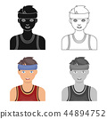 Young basketball player.Basketball single icon in cartoon style vector symbol stock illustration web 44894752