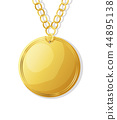 Golden medal 44895138