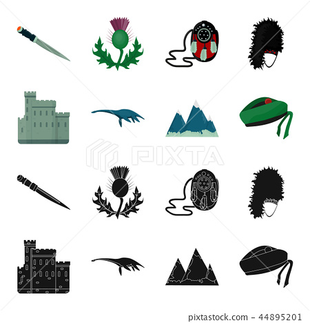 Edinburgh Castle, Loch Ness Monster, Grampian Mountains, national cap balmoral,tam o shanter 44895201