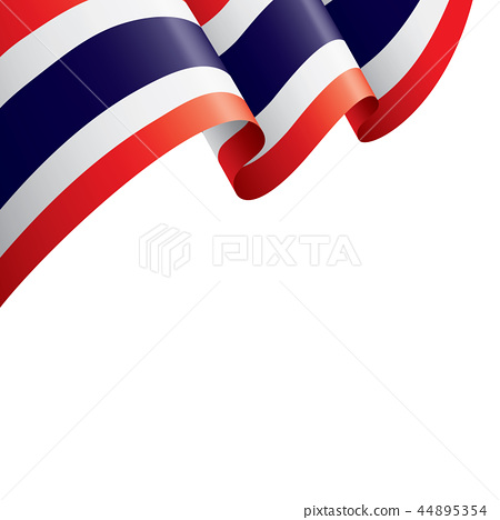 Thailand flag, vector illustration on a white background 44895354