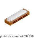 Harmonica isometric 3d icon 44897330