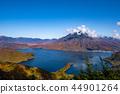 햇빛 가을 보름 산에서 내려다 보이는 주젠지 e 광각 난타 ~ 金精峠 44901264