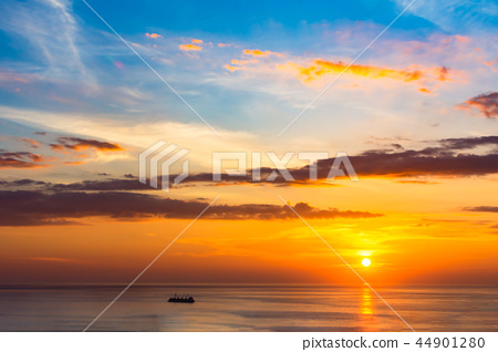 Sunset over the sea 44901280