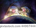 astronaut earth globe 44907444