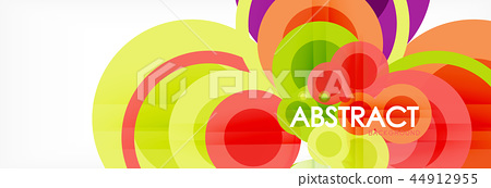 Modern geometric background template 44912955