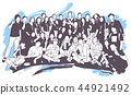 Illustration of group of people posing for photo 44921492