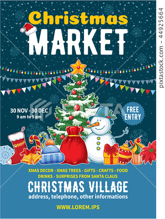 Christmas Market Poster Template 44925664