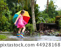 rain, child, puddle 44928168