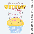 birthday,cake,vector 44928393