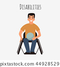 vector, wheelchair, rugby 44928529