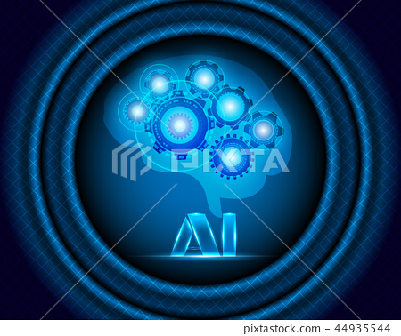 AI Artificial intelligence With Robot brain 44935544