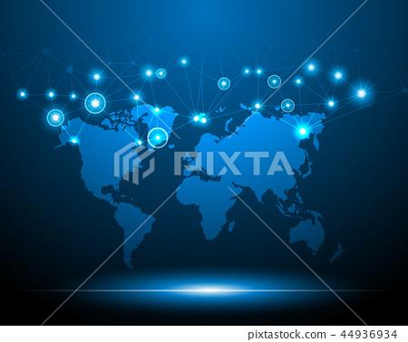 Worldmap cyber digital 44936934
