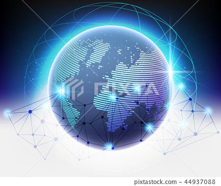 Global Cloud computing network concept 44937088