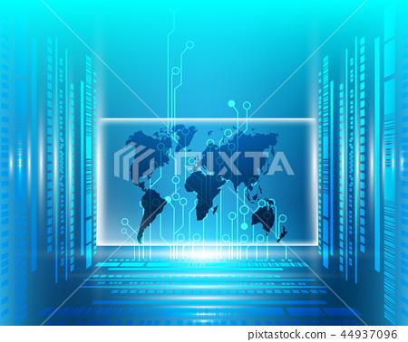 Worldmap data digital 44937096