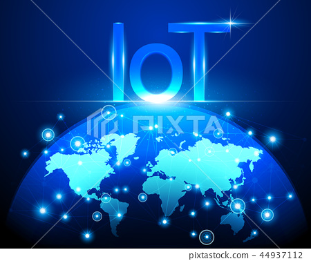 Internet of things (IOT) technology concept 44937112