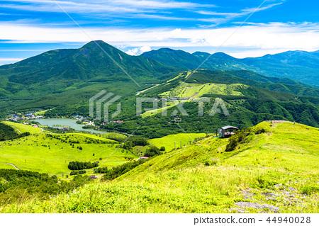 《長野縣》熊山高原和山頂的景色 44940028