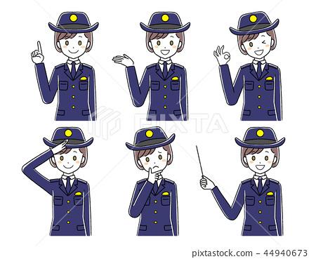 一名女性警察的例證 44940673