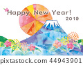 新年賀卡 賀年片 賀年卡 44943901