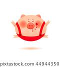 pig, cute, vector 44944350