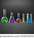 Chemical laboratory with chemicals in test tube equipments vector illustration 44945836