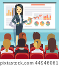 Business conference, seminar with speaker in front of audience. Motivation vector concept 44946061