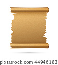 Realistic vertical paper ancient vector scroll 44946183