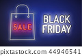 Black Friday vector , neon style, banner 44946541