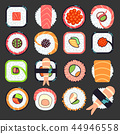 Japanese food sushi vector illustration 44946558