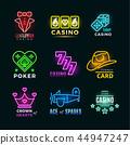 neon, light, poker 44947247