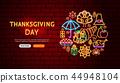 thanksgiving, day, neon 44948104
