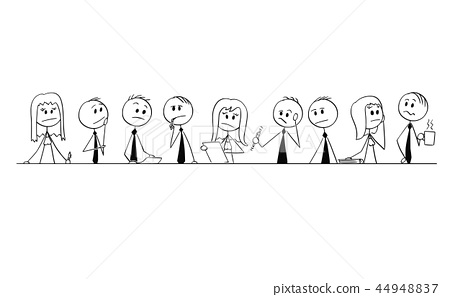 Cartoon Of Group Of Business People Businessmen Or