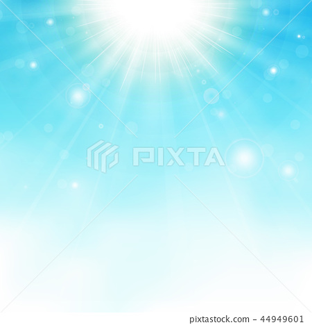 Sunburst center on blue sky background. 44949601
