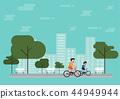 Flat design outdoor park 44949944