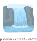 Canadian waterfall. Canada single icon in cartoon style vector symbol stock illustration web. 44950279