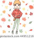 Vector fashion girl in autumn clothes 44951216