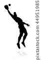 baseball silhouette player 44951985