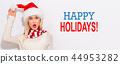 woman, christmas, xmas 44953282