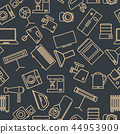 Seamless pattern from a set of household appliance 44953909
