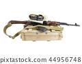 box of ammunition with AK rifle and ammunition 44956748