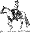 cowgirl horse vector 44956916