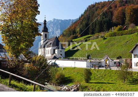 Church St. Sebatian in Ramsau Bavaria, Germany 44960507