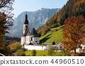 Church St. Sebatian in Ramsau Bavaria, Germany 44960510