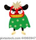 이른바 캐릭터의 사자춤의 일러스트 | 설날 이미지 소재 | 연하장 소재 | 사자춤 벡터 데이터 44960947