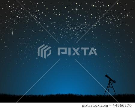 Realistic Starry Sky. Shining Stars Dark Sky. 44966270