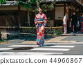 tourist walking out from the kimono store 44966867