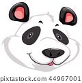 panda head vector 44967001