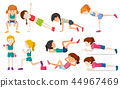 woman exercise vector 44967469