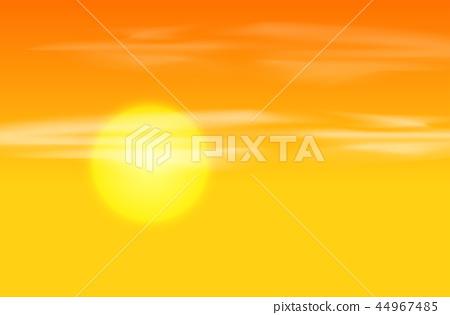 Yellow orange sunset background 44967485