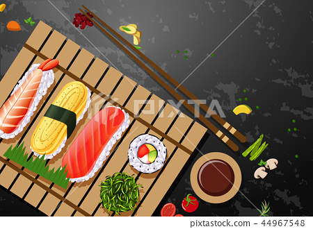 A set of sushi meal 44967548