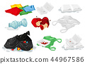 Set of plastic trash 44967586